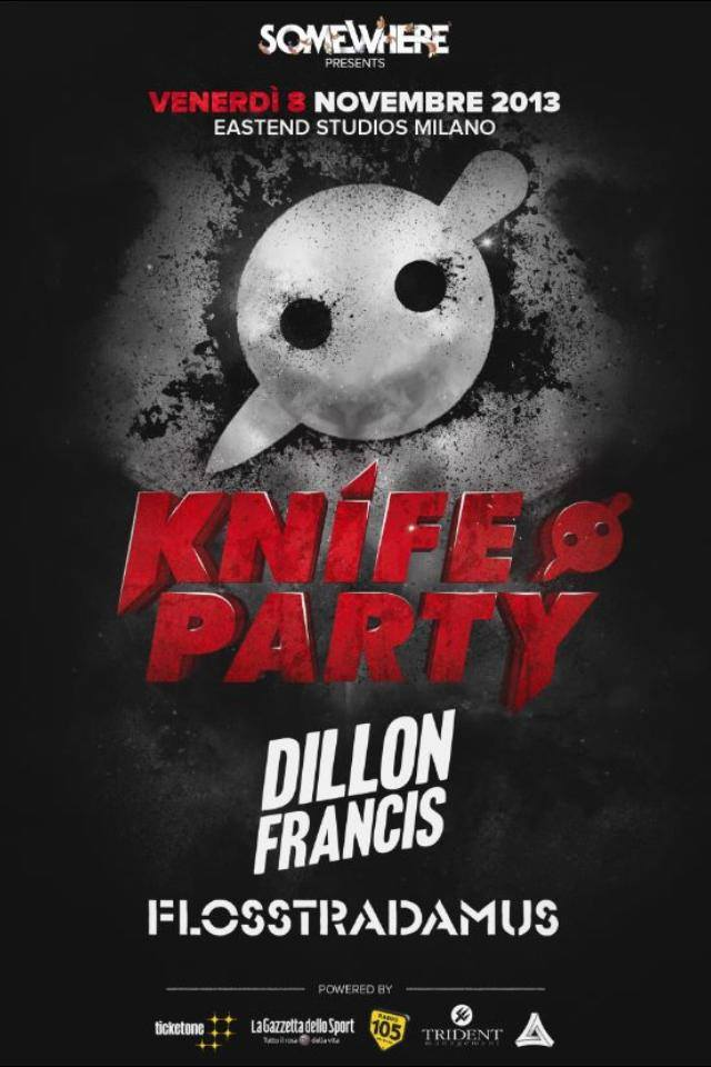 Foto: Knife Party – Dillon Francis – Flosstradamus East End Studios Milano