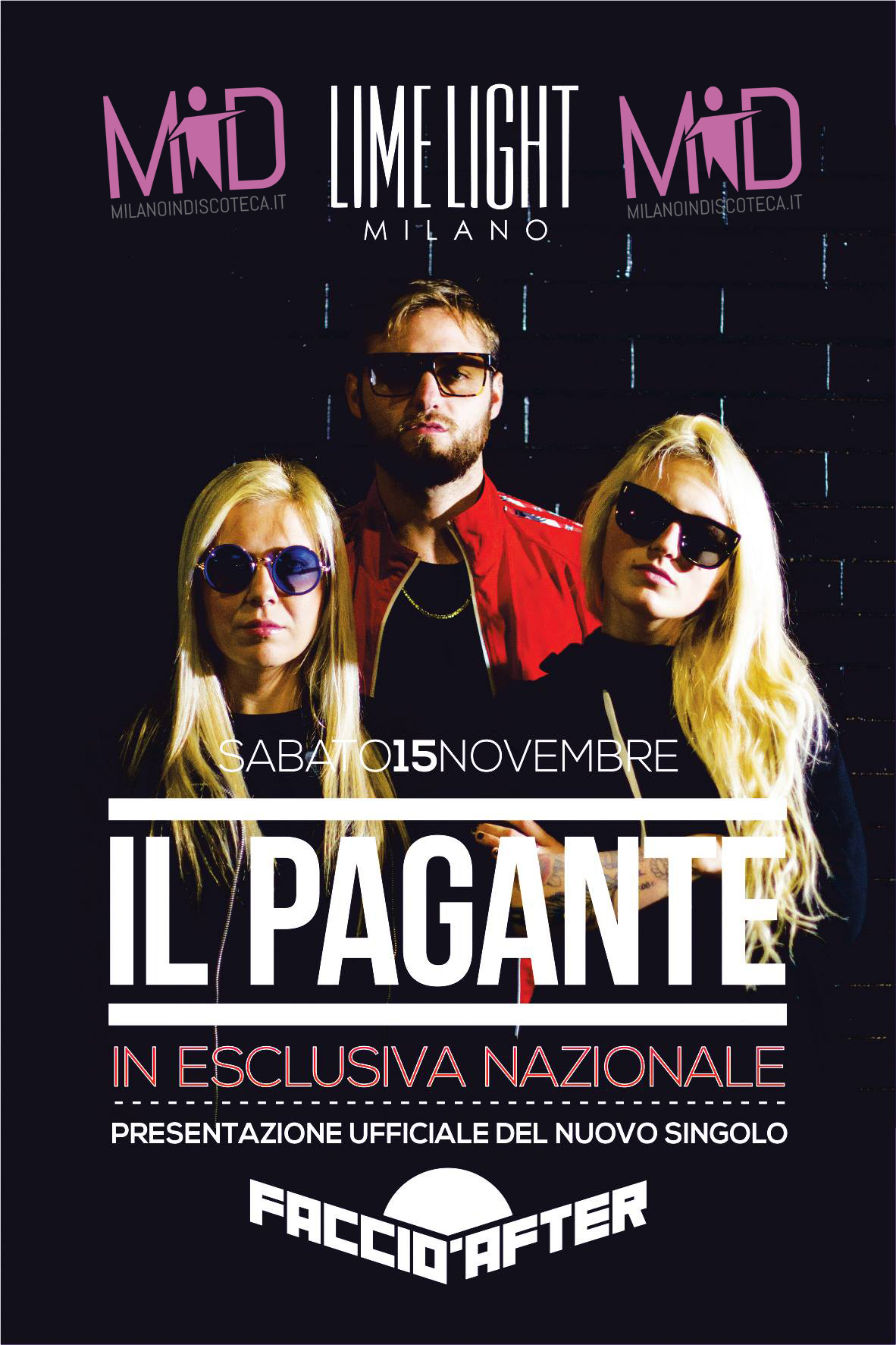 Sabato il pagante limelight milano info 3282345620 for Disco in milano