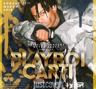 Foto: Playboi Carti Domenica Just Cavalli Milano