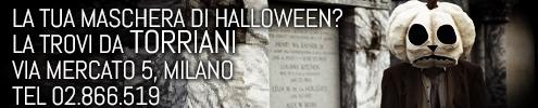 Maschere Halloween da Torriani Milano