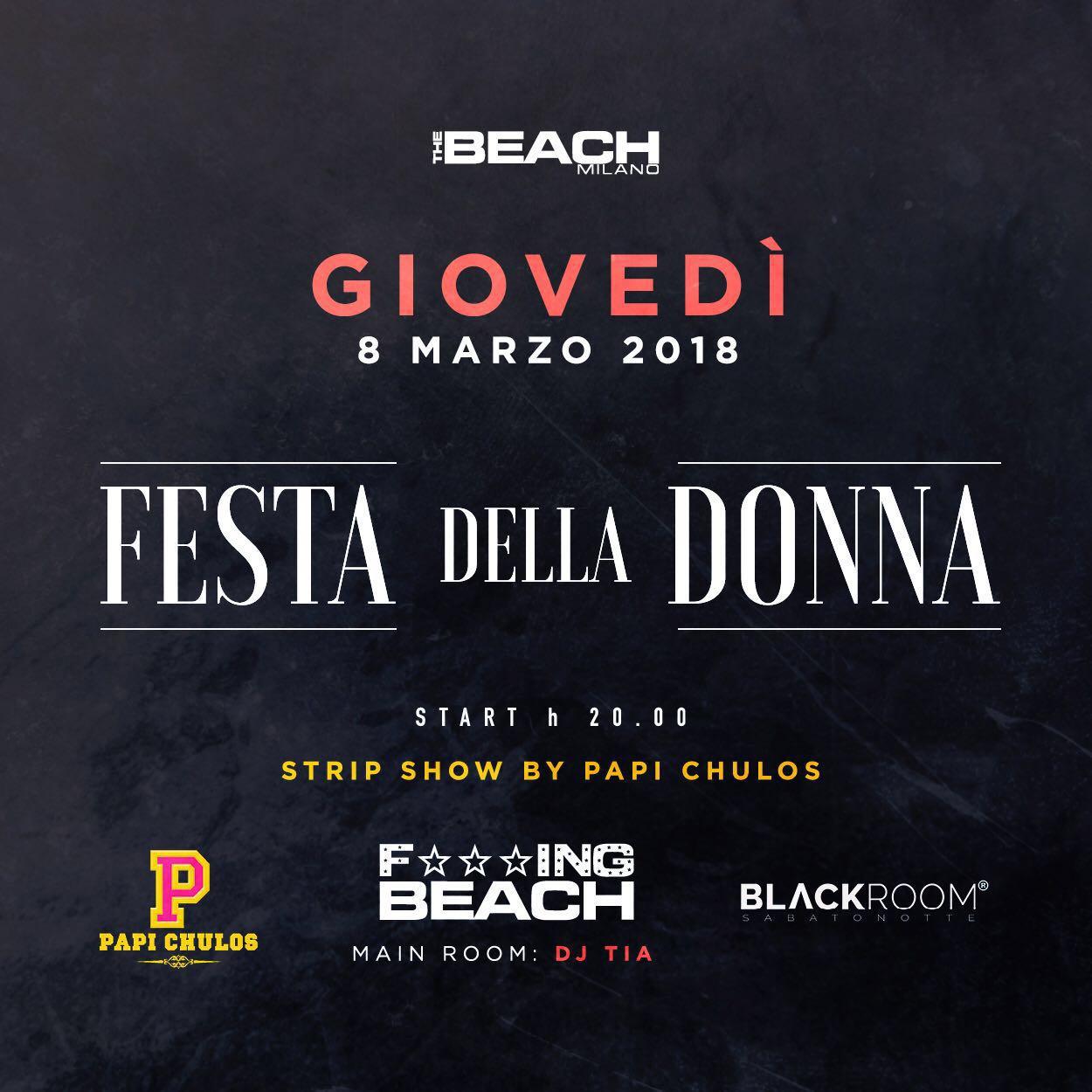 Foto: Festa della Donna The Beach Milano