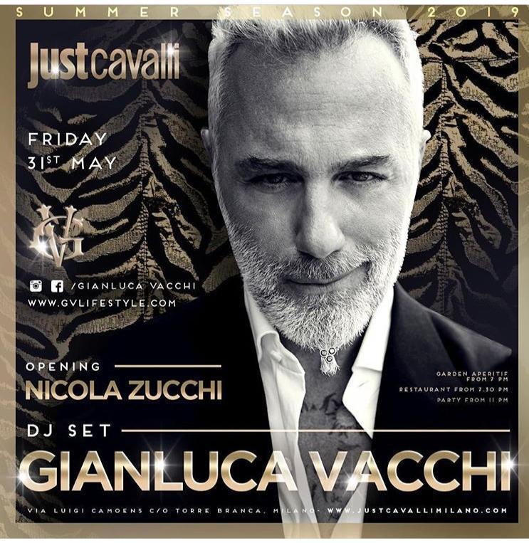Foto: Gianluca Vacchi Just Cavalli Milano venerdi 31 maggio