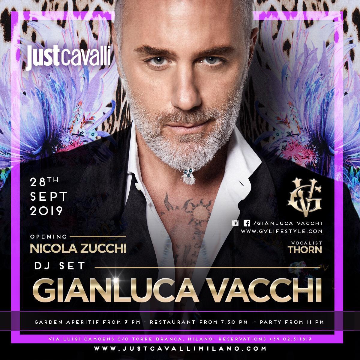 Foto: Gianluca Vacchi Just Cavalli Milano Sabato 28 Settembre