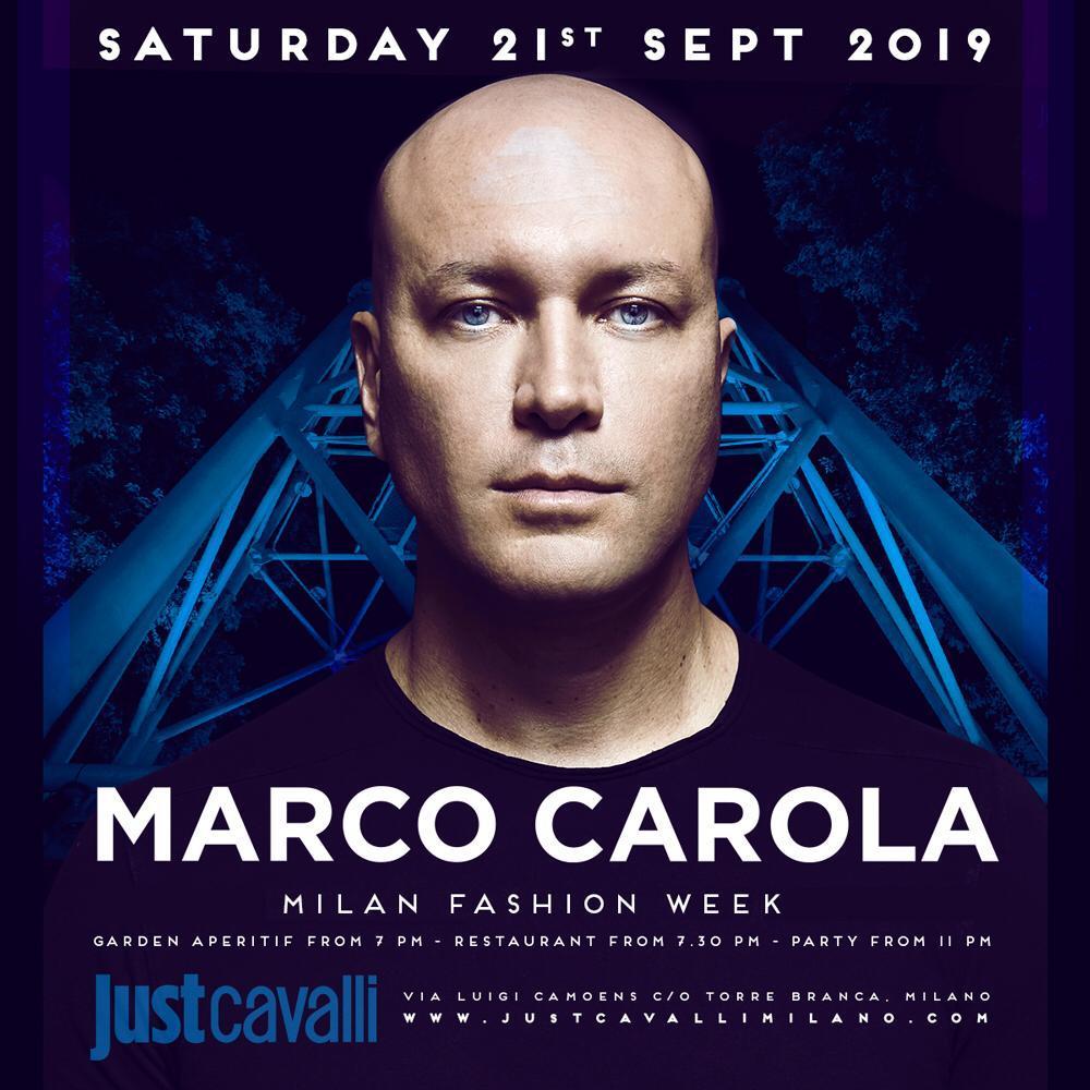 marco carola just cavalli Milano #mfw 21 settembre 2019